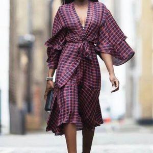 Zara Plaid Kimono Dress 💐💐